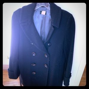 J Crew Wool Double Breasted Car Coat